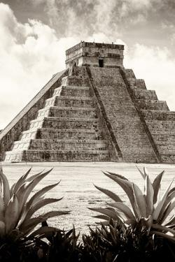 ¡Viva Mexico! B&W Collection - Pyramid of Chichen Itza VIII by Philippe Hugonnard