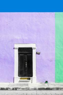 ¡Viva Mexico! Collection - 124 Street Campeche - Mauve & Green Wall by Philippe Hugonnard