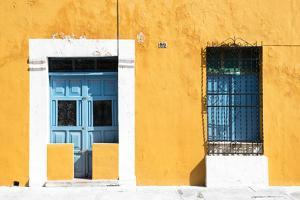 ¡Viva Mexico! Collection - 130 Street Campeche - Dark Yellow Wall by Philippe Hugonnard