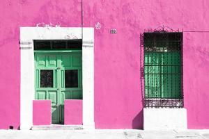 ¡Viva Mexico! Collection - 130 Street Campeche - Hot Pink Wall by Philippe Hugonnard