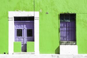 ¡Viva Mexico! Collection - 130 Street Campeche - Lime Wall by Philippe Hugonnard