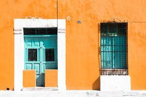 ¡Viva Mexico! Collection - 130 Street Campeche - Orange Wall by Philippe Hugonnard