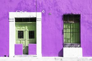 ¡Viva Mexico! Collection - 130 Street Campeche - Purple Wall by Philippe Hugonnard