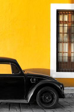 ¡Viva Mexico! Collection - Black VW Beetle with Gold Street Wall by Philippe Hugonnard