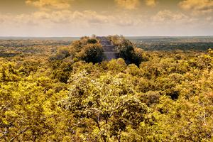 ¡Viva Mexico! Collection - Calakmul in the Mexican Jungle with Fall Colors by Philippe Hugonnard