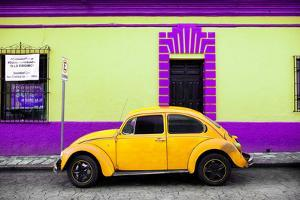 ¡Viva Mexico! Collection - Classic Yellow VW Beetle Car and Colorful Wall by Philippe Hugonnard