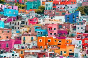 ¡Viva Mexico! Collection - Colorful Cityscape XII - Guanajuato by Philippe Hugonnard