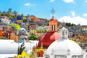¡Viva Mexico! Collection - Colorful Houses and Double Domes of Churches - Guanajuato by Philippe Hugonnard
