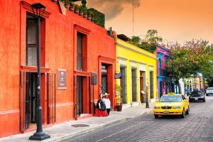 ¡Viva Mexico! Collection - Colorful Mexican Street at Sunset by Philippe Hugonnard