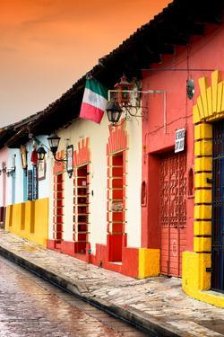¡Viva Mexico! Collection - Colorful Street Scene at Sunset II by Philippe Hugonnard