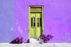 ¡Viva Mexico! Collection - Colorful Street Wall VII by Philippe Hugonnard