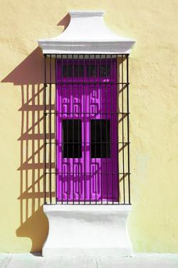 ¡Viva Mexico! Collection - Deep Pink Window and Yellow Wall in Campeche by Philippe Hugonnard