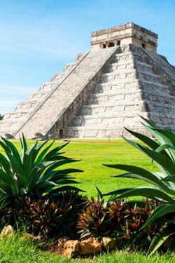 ¡Viva Mexico! Collection - El Castillo Pyramid of the Chichen Itza III by Philippe Hugonnard