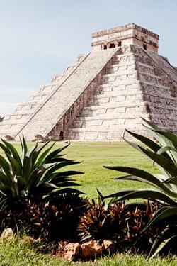 ¡Viva Mexico! Collection - El Castillo Pyramid of the Chichen Itza IV by Philippe Hugonnard