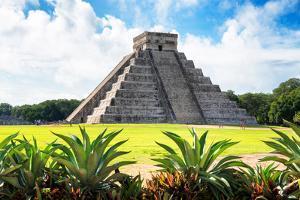 ¡Viva Mexico! Collection - El Castillo Pyramid of the Chichen Itza V by Philippe Hugonnard
