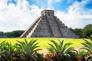 ¡Viva Mexico! Collection - El Castillo Pyramid of the Chichen Itza V by Philippe Hugonnard