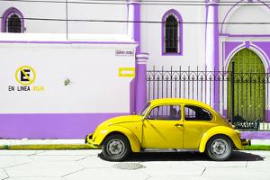"¡Viva Mexico! Collection - ""En Linea Roja"" Yellow VW Beetle Car by Philippe Hugonnard"