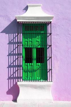 ¡Viva Mexico! Collection - Green Window and Mauve Wall in Campeche by Philippe Hugonnard