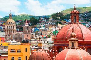 ?Viva Mexico! Collection - Guanajuato - Church Domes III by Philippe Hugonnard