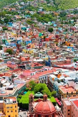 ¡Viva Mexico! Collection - Guanajuato - Colorful City IV by Philippe Hugonnard