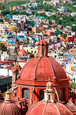 ¡Viva Mexico! Collection - Guanajuato - Red Church Dome by Philippe Hugonnard