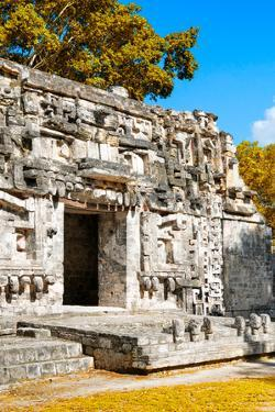 ¡Viva Mexico! Collection - Hochob Mayan Pyramids with Fall Colors II - Campeche by Philippe Hugonnard