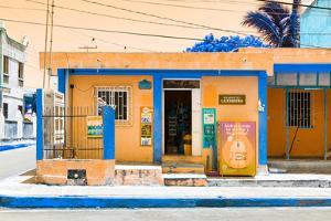 "¡Viva Mexico! Collection - ""La Esquina"" Orange Supermarket - Cancun by Philippe Hugonnard"