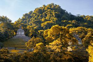 ¡Viva Mexico! Collection - Mayan Ruins with Fall Colors at Sunsrise - Palenque by Philippe Hugonnard