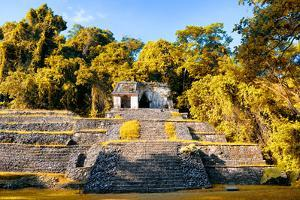 ¡Viva Mexico! Collection - Mayan Ruins with Fall Colors in Palenque by Philippe Hugonnard