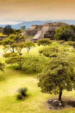 ¡Viva Mexico! Collection - Mayan Temple of Monte Alban with Fall Colors II by Philippe Hugonnard
