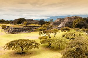 ¡Viva Mexico! Collection - Mayan Temple of Monte Alban with Fall Colors by Philippe Hugonnard