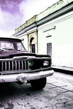 ¡Viva Mexico! Collection - Old Black Jeep and Colorful Street VI by Philippe Hugonnard