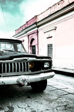 ¡Viva Mexico! Collection - Old Black Jeep and Colorful Street VII by Philippe Hugonnard