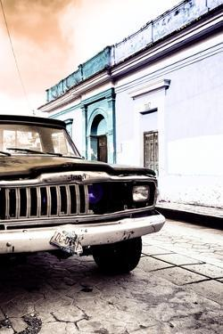 ¡Viva Mexico! Collection - Old Black Jeep and Colorful Street VIII by Philippe Hugonnard