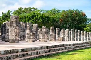 ¡Viva Mexico! Collection - One Thousand Mayan Columns - Chichen Itza by Philippe Hugonnard