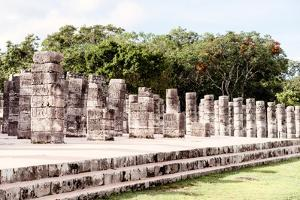 ¡Viva Mexico! Collection - One Thousand Mayan Columns II - Chichen Itza by Philippe Hugonnard