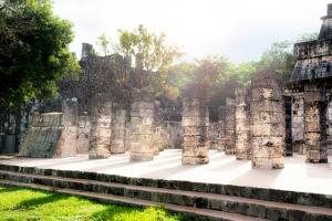 ¡Viva Mexico! Collection - One Thousand Mayan Columns III - Chichen Itza by Philippe Hugonnard