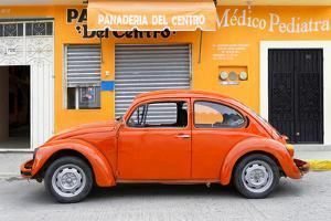 ¡Viva Mexico! Collection - Orange Volkswagen Beetle Car by Philippe Hugonnard