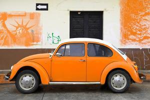 ¡Viva Mexico! Collection - Orange VW Beetle Car and American Graffiti by Philippe Hugonnard
