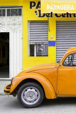 ¡Viva Mexico! Collection - Orange VW Beetle Car II by Philippe Hugonnard