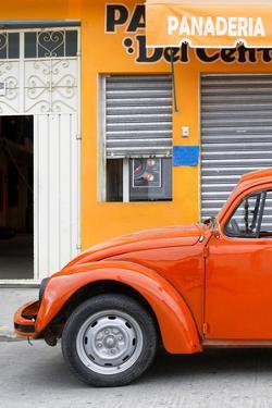 ¡Viva Mexico! Collection - Orange VW Beetle Car by Philippe Hugonnard