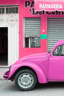 ¡Viva Mexico! Collection - Pink VW Beetle Car by Philippe Hugonnard