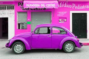 ¡Viva Mexico! Collection - Purple Volkswagen Beetle Car by Philippe Hugonnard