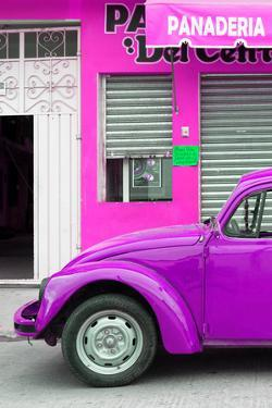 ¡Viva Mexico! Collection - Purple VW Beetle Car by Philippe Hugonnard