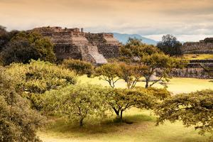 ¡Viva Mexico! Collection - Pyramid of Monte Alban with Fall Colors II by Philippe Hugonnard