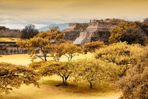 ¡Viva Mexico! Collection - Pyramid of Monte Alban with Fall Colors by Philippe Hugonnard