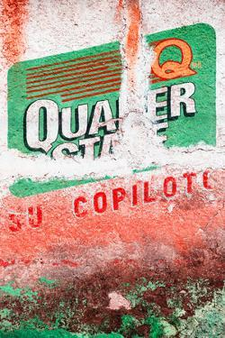 ¡Viva Mexico! Collection - Red Grunge Wall by Philippe Hugonnard