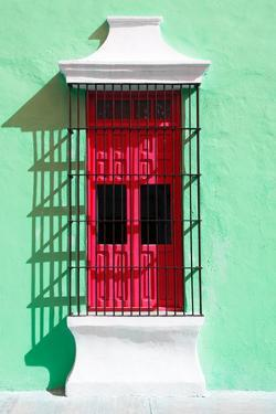 ¡Viva Mexico! Collection - Red Window and Green Wall in Campeche by Philippe Hugonnard