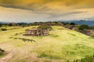 ¡Viva Mexico! Collection - Ruins of Monte Alban at Sunset II by Philippe Hugonnard