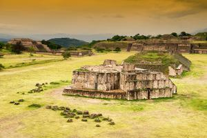 ¡Viva Mexico! Collection - Ruins of Monte Alban at Sunset by Philippe Hugonnard